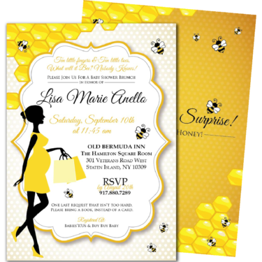 Bee blackline mommy to bee baby shower invitations filmwisefo