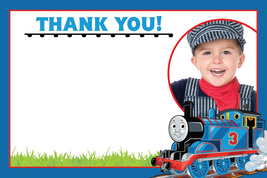 Thomas The Train Thank You Cards Blackline
