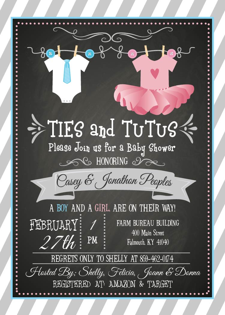 Baby Shower Invitations – Blackline