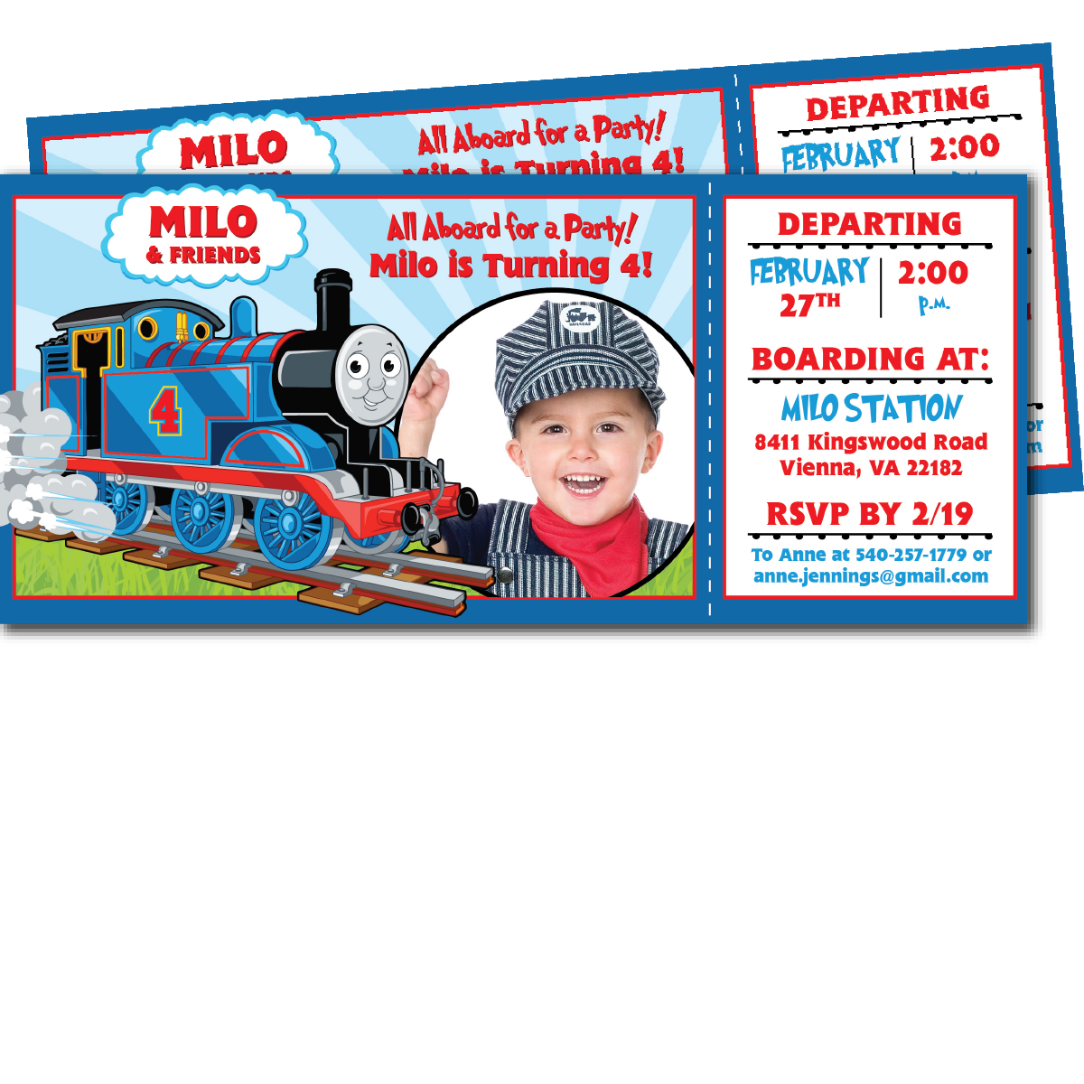 Thomas the Train Birthday Invitations Blackline – Thomas the Train Birthday Invites